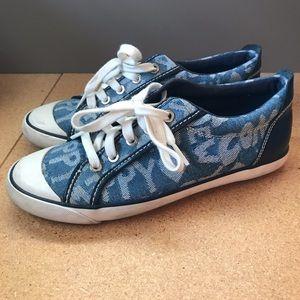 Denim coach poppy shoes
